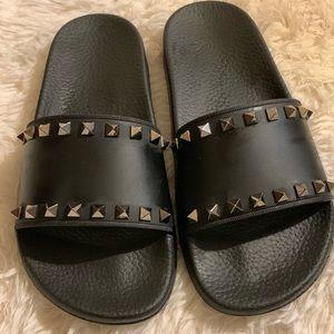Valentino Rockstud Slide Sandal Size 38!